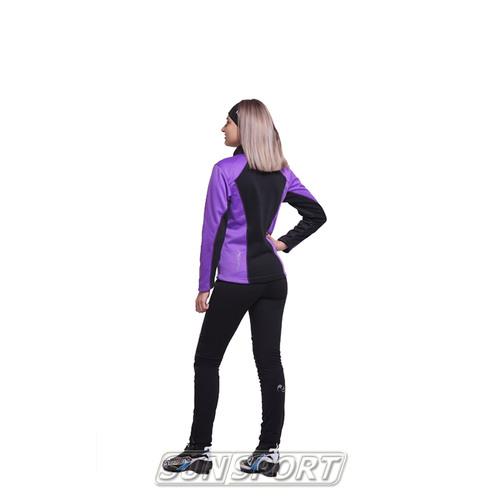 Разминочный костюм NordSki JR Premium SoftShell детский фиол/черный (фото, вид 1)