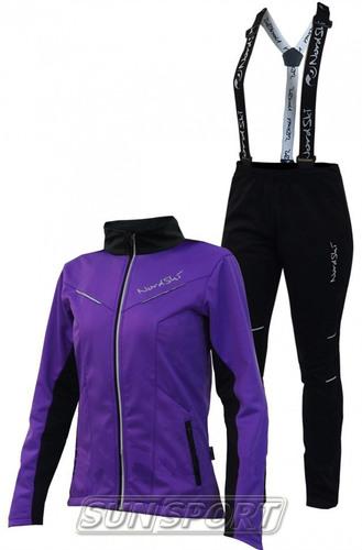 Разминочный костюм NordSki JR Premium SoftShell детский фиол/черный (фото, вид 3)