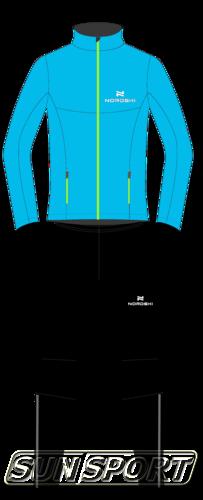Разминочный костюм NordSki M Elite мужской син/черный (фото, вид 2)