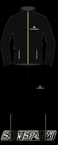 Разминочный костюм NordSki M Elite мужской черный (фото, вид 4)