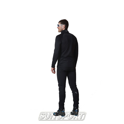 Разминочный костюм NordSki M Elite мужской черный (фото, вид 1)