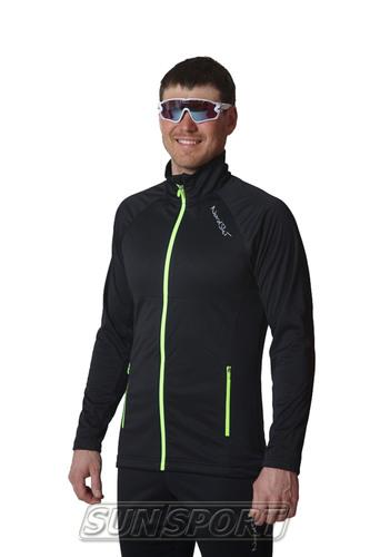 Разминочный костюм NordSki M Elite мужской черный (фото, вид 2)