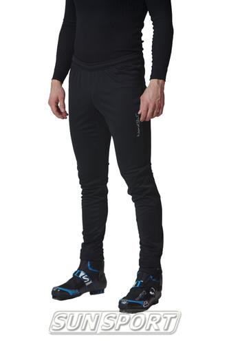 Разминочный костюм NordSki M Elite мужской черный (фото, вид 3)