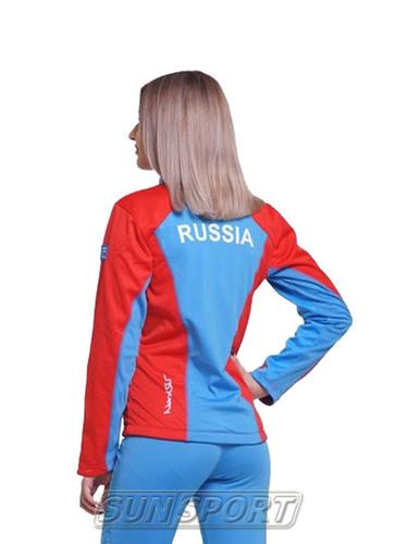Разминочная куртка NordSki W SoftShell женская National Red (фото, вид 1)