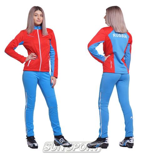 Разминочная куртка NordSki W SoftShell женская National Red (фото, вид 2)
