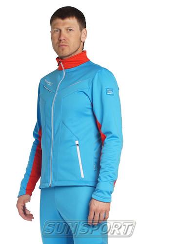 Разминочная куртка NordSki JR SoftShell детская National Blue (фото, вид 2)