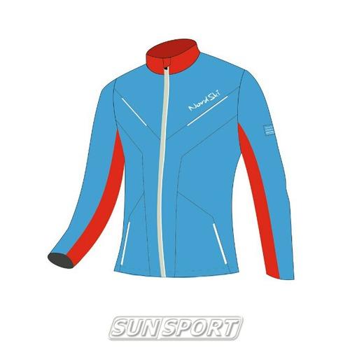 Разминочная куртка NordSki JR SoftShell детская National Blue (фото, вид 4)