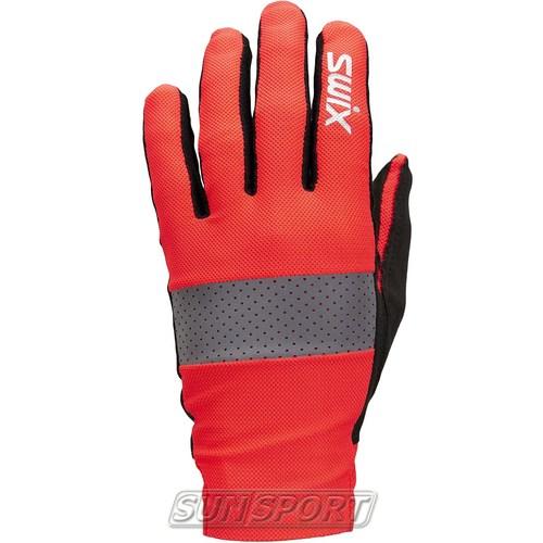 Перчатки лыжероллерные Swix Radiant красный/неон (фото, вид 1)