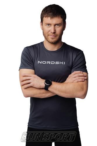 Футболка NordSki M Logo мужская Graphite (фото, вид 2)