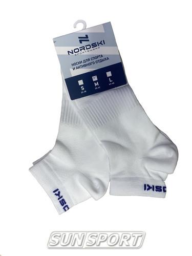 Носки комплект NordSki Run белый (фото, вид 1)