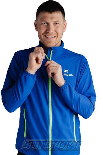 Куртка Тренировочная NordSki M Motion мужская васильковый (фото, вид 2)