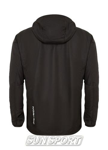 Куртка Тренировочная NordSki M Run мужская черный (фото, вид 1)