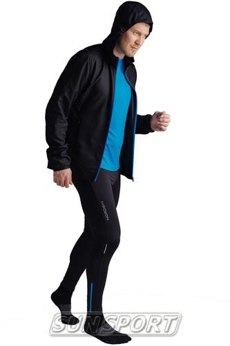 Куртка Тренировочная NordSki M Run мужская черный (фото, вид 2)