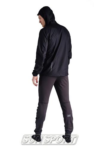 Куртка Тренировочная NordSki M Run мужская черный (фото, вид 3)