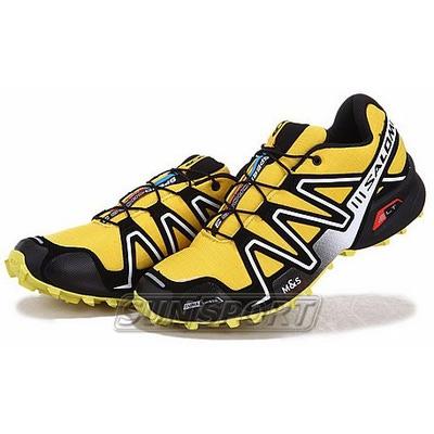 Кроссовки трейловые Salomon M Speed Cross 3 жёлт/чёрный (фото, вид 1)