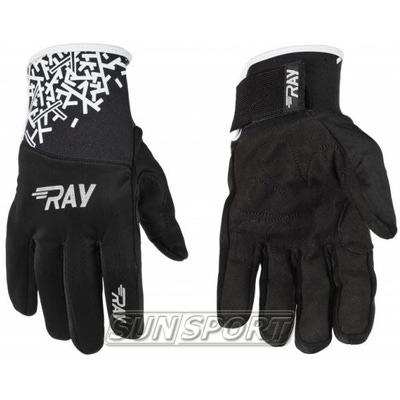 Перчатки RAY Race чёрные (фото, вид 1)