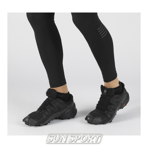 Кроссовки трейловые Salomon M SpeedCross 5 мужские черный (фото, вид 1)