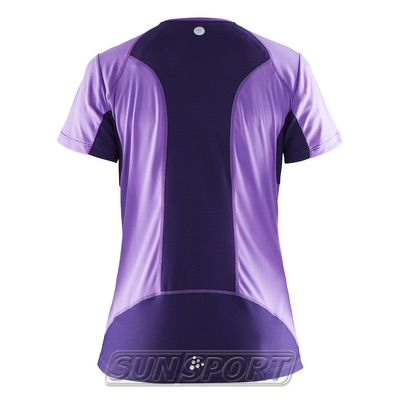 Футболка Craft W Devotion Run женская лил/фиолетовый (фото, вид 1)