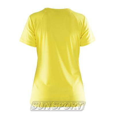 Футболка Craft W Prime Run Logo женская желтый (фото, вид 1)