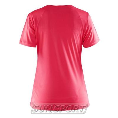 Футболка Craft W Prime Run Logo женская ягода (фото, вид 1)