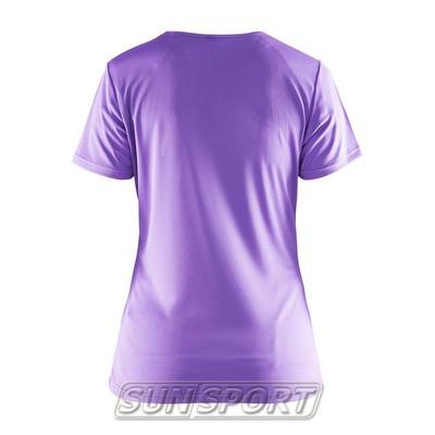 Футболка Craft W Prime Run Logo женская лиловый (фото, вид 1)