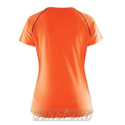 Футболка Craft W Prime Run женская оранж/фиолетовый (фото, вид 1)