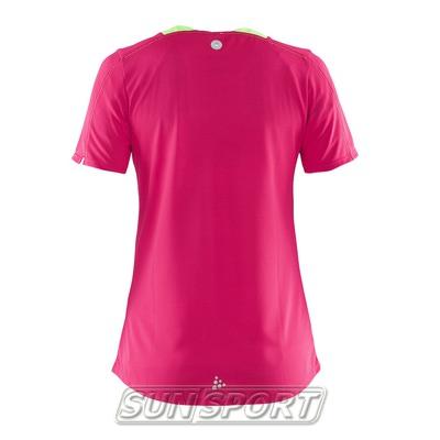 Футболка Craft W Joy Run женская ягода (фото, вид 1)
