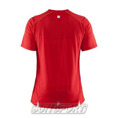 Футболка Craft M Joy Run мужская красн/желтый (фото, вид 1)