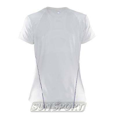 Футболка Craft W Focus Run Cool Sublimated женская бел/принт (фото, вид 1)
