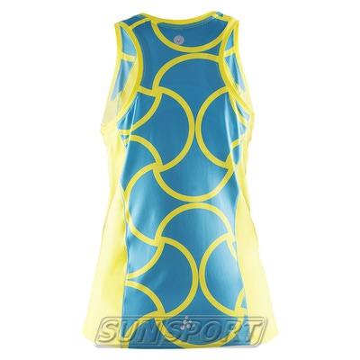 Майка Craft W Focus Run Cool Sublimated женская желт/бирюза (фото, вид 1)