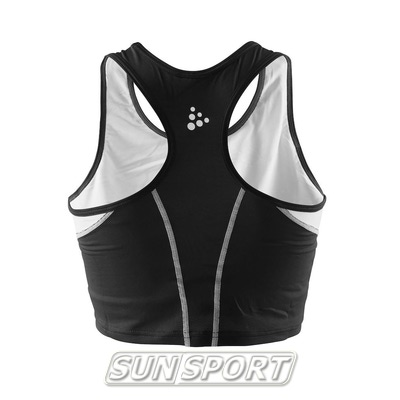 Топ спортивный Craft Track&Field черный (фото, вид 1)