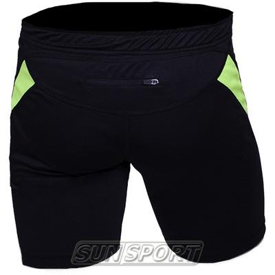 Шорты NordSki Premium Run Black/Neon (фото, вид 1)