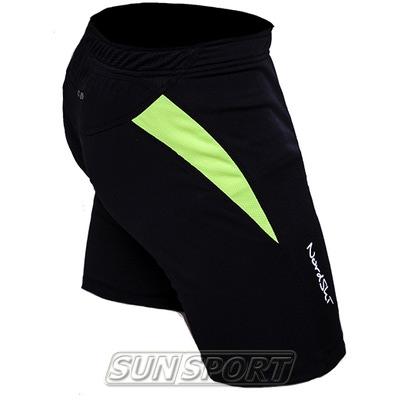 Шорты NordSki Premium Run Black/Neon (фото, вид 2)