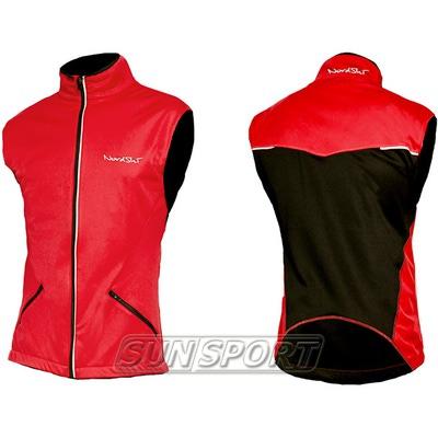 Жилет NordSki M Premium SoftShell мужской красный (фото, вид 2)