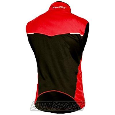 Жилет NordSki M Premium SoftShell мужской красный (фото, вид 1)
