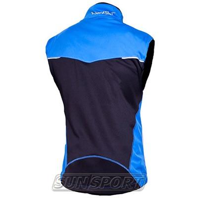 Жилет NordSki M Premium SoftShell мужской синий (фото, вид 1)
