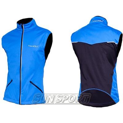 Жилет NordSki M Premium SoftShell мужской синий (фото, вид 2)