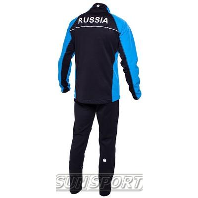 Разминочный костюм NordSki M SoftShell мужской голубой (фото, вид 1)