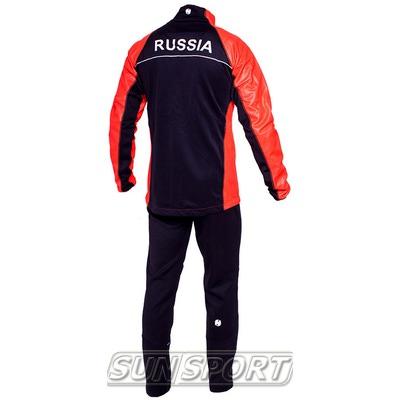 Разминочный костюм NordSki M WS мужской красный (фото, вид 1)