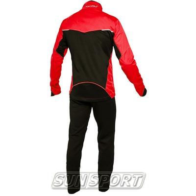 Разминочный костюм NordSki M Premium SoftShell мужской красный (фото, вид 1)