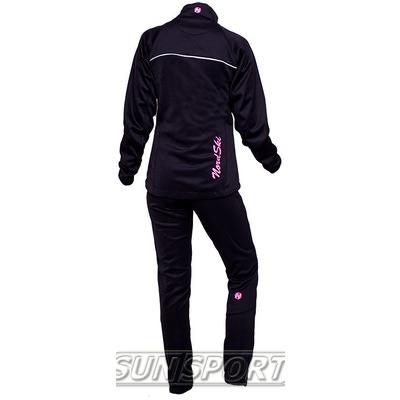Разминочный костюм W Nordski SoftShell черн-роз (фото, вид 1)