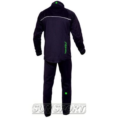 Разминочный костюм NordSki M SoftShell мужской чер/зеленый (фото, вид 1)