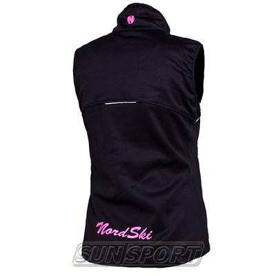Жилет NordSki W SoftShell женский черн/розовый (фото, вид 1)