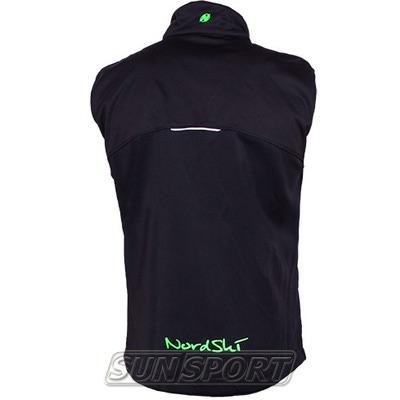 Жилет NordSki M SoftShell мужской черн/зеленый (фото, вид 1)
