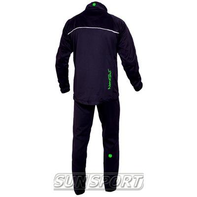 Разминочный костюм NordSki JR SoftShell детский черн/зеленый (фото, вид 1)