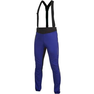 Разминочные штаны-самосбросы на лямках Craft Flow мужские синий