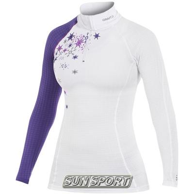 Термобелье Рубашка Craft W Active Extreme женская на молнии бел/принт