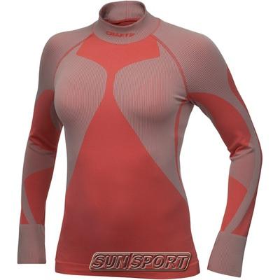 Термобелье Рубашка Craft W Pro Warm женская высокий ворот красный