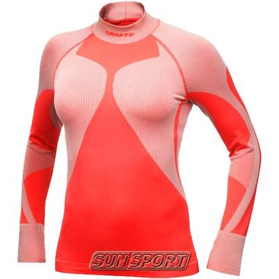 Термобелье Рубашка Craft W Pro Warm женская высокий ворот розовый
