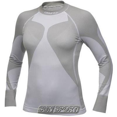 Термобелье Рубашка Craft W Pro Warm женская низкий ворот белый